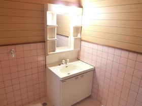 コーポラスユーB棟 102号室の洗面所