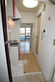 フラットシティ 4-B号室の玄関