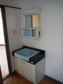 観月荘 201号室の洗面所
