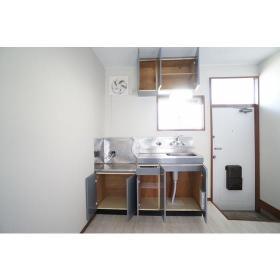 Kハウス 101号室のキッチン