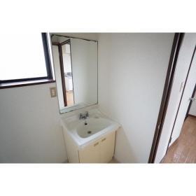 コーポ松下 201号室の洗面所