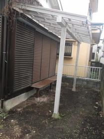 古木貸家の庭