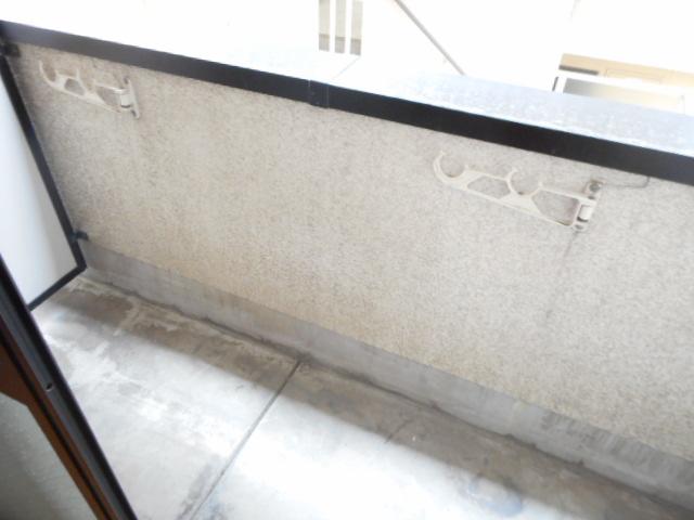 津賀マンション 302号室のバルコニー
