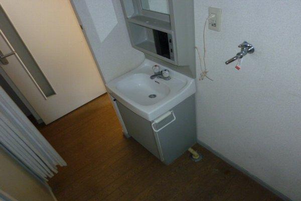 藤コーポC棟 203号室の洗面所