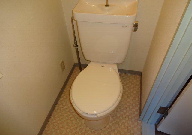 藤コーポE棟 306号室のトイレ