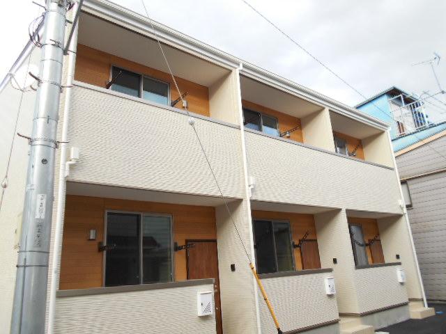 弓町新築アパート外観写真