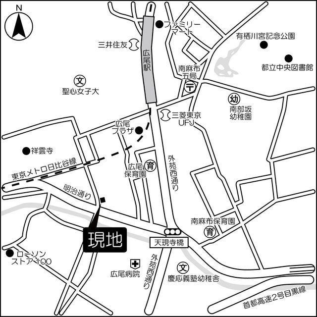 東急ドエル・グラフィオ広尾外観写真