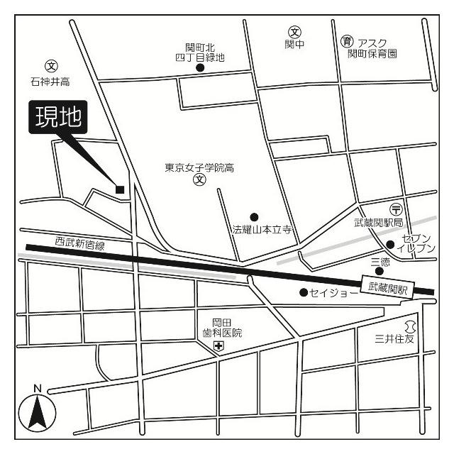 武蔵関マンション3号棟外観写真