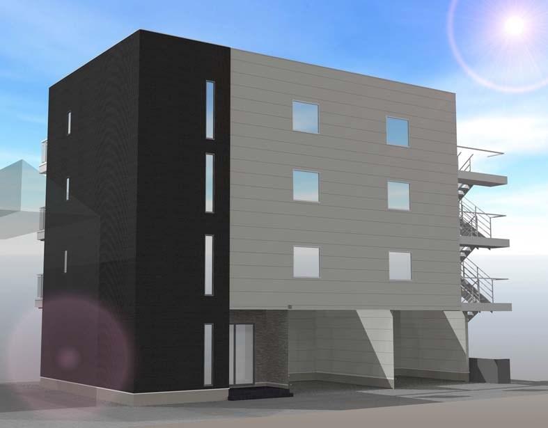 (仮称)鬼高2丁目共同住宅(A棟)外観写真