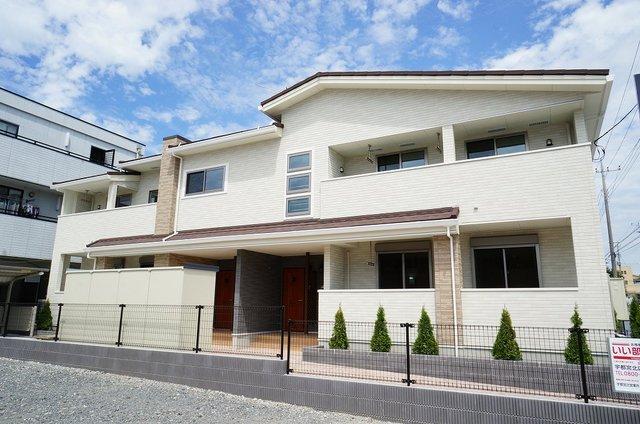 下岡本町アパート外観写真