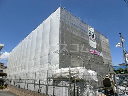 東保木間新築店舗アパート外観写真