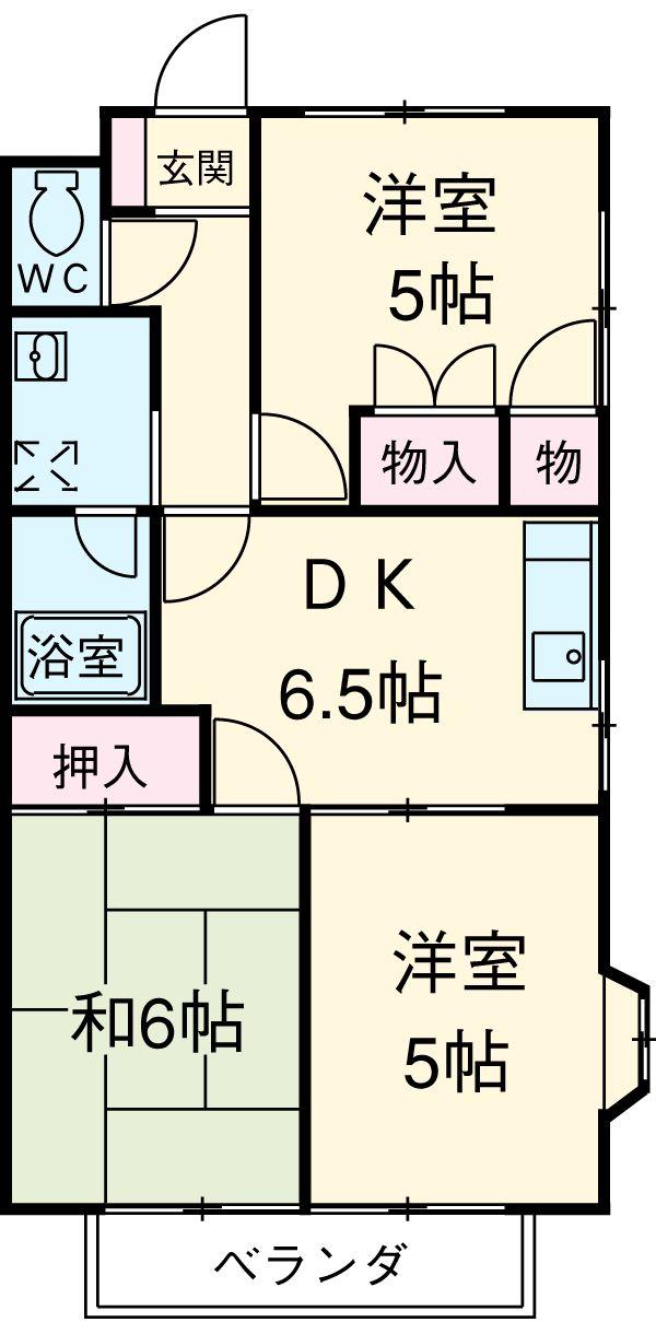 ウッドマンション 105号室の間取り