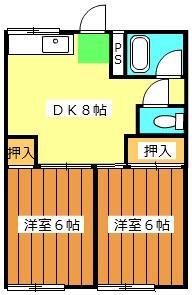 成江ビレッジ 105号室の間取り