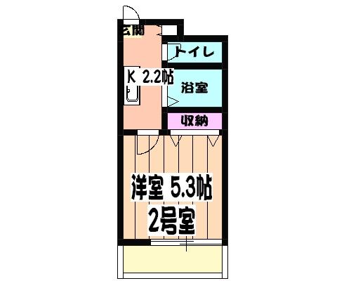 津賀マンション 302号室の間取り