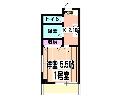 津賀マンション 301号室の間取り