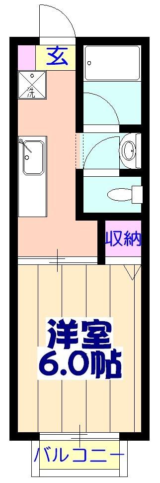 クオリティハイツ鎌ヶ谷 105号室の間取り