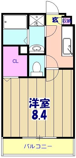 リブリ・MIYABI 108号室の間取り