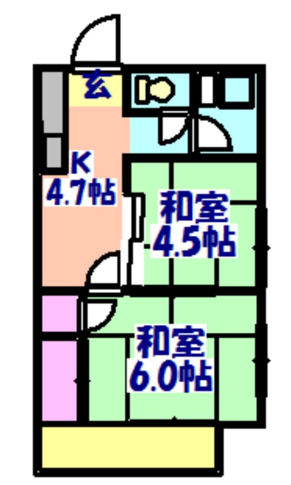 関谷アパート 201号室の間取り