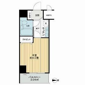ライオンズマンション錦糸町第8 611号室の間取り