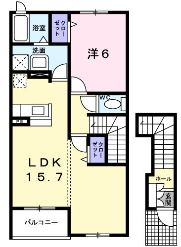 ルミナス・M 02030号室の間取り