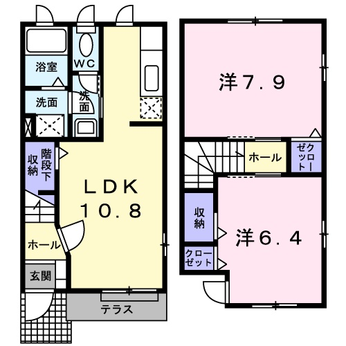 ルミナスM6 B 01020号室の間取り