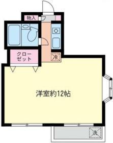 コーポあーさ・相武台 206号室の間取り