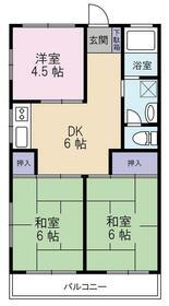 横田ハイツ 305号室の間取り