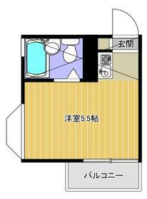 グリーンハウス上鶴間 201号室の間取り