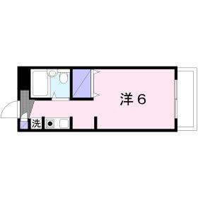 トップ桜ヶ丘第5 404号室の間取り