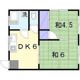 小菅荘 101号室の間取り