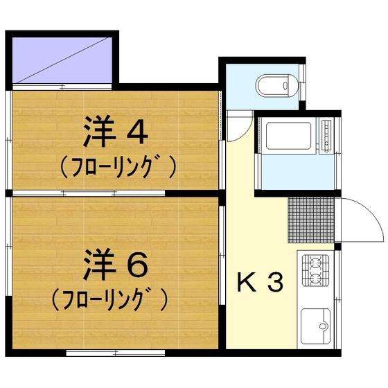 福島荘 202号室の間取り