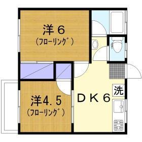 コーポ富士見 203号室の間取り