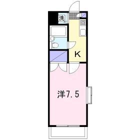 トップマンション桜ヶ丘第3 105号室の間取り