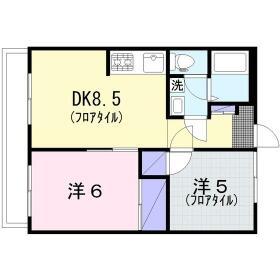 桜ヶ丘東和マンション 403号室の間取り