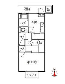 山口アパート 202号室の間取り