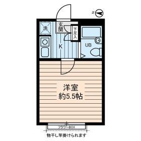 ディアコート町田 0102号室の間取り