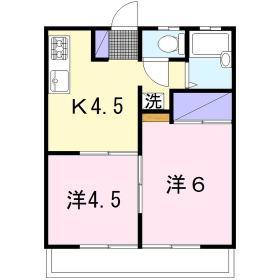 サンハイツ須永 302号室の間取り