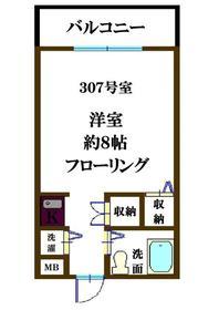 MUNETAKEマンション 307号室の間取り