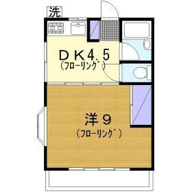 ハイツ多慶 203号室の間取り
