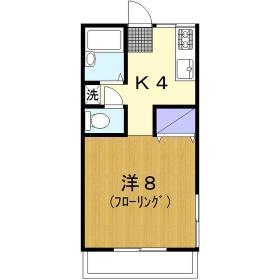 上野ハイツ2F 206号室の間取り