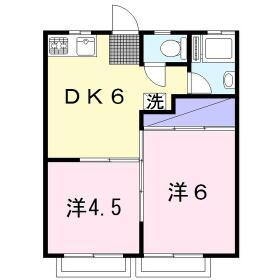 Kハウス 201号室の間取り