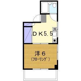 第二小島ビル 303号室の間取り