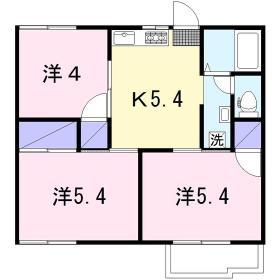 グリーンヴィラ桜ヶ丘 205号室の間取り