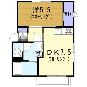 ハイラーク桜ヶ丘XI 201号室の間取り