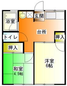 シティハイムAIZAWA D 102号室の間取り