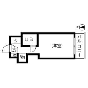 TOP・桜ケ丘第2 0304号室の間取り